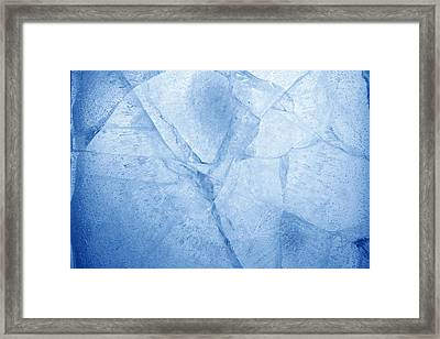 Ice Cracks Framed Print by Les Cunliffe
