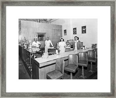 Ice Cream Counter Framed Print by Underwood Archives