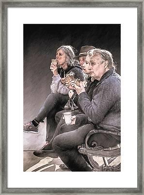 Ice Cream Friday Framed Print by John Haldane
