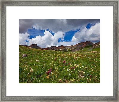 Ice Lake Meadow Framed Print by Darren White