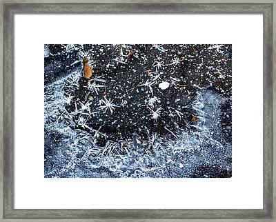 Ice Pattern Framed Print by Jean Noren
