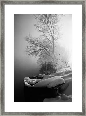 Ice Pier Framed Print by Davorin Mance