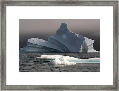 Ice Pinacle Framed Print by Elisabeth Van Eyken