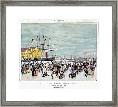 Ice Skaters, C1856 Framed Print by Granger