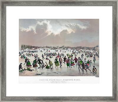 Ice Skating, C1859 Framed Print by Granger