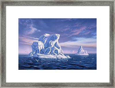 Icebeargs Framed Print by Jerry LoFaro