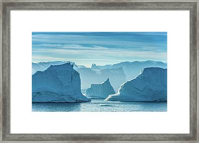 Iceberg View - Greenland Travel Photograph Framed Print by Duane Miller