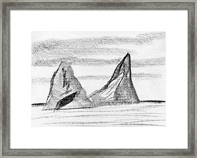 Icebergs Framed Print by R Kyllo