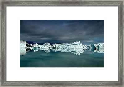 Icebergs Framed Print by Thorsteinn H. Ingibergsson