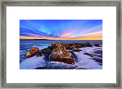 Icebound 2 Framed Print by ABeautifulSky Photography