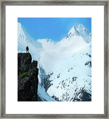 Iceland Snow Covered Mountains Framed Print by Larry Marshall
