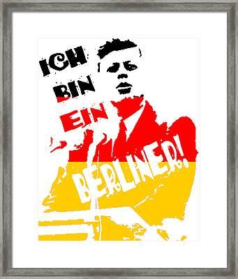 Ich Bin Ein Berliner Framed Print by Jera Sky