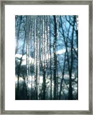 Icicle Art Fun 10 Framed Print by Debra     Vatalaro