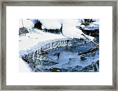 Icicle Bells Framed Print by Patricia Sanders