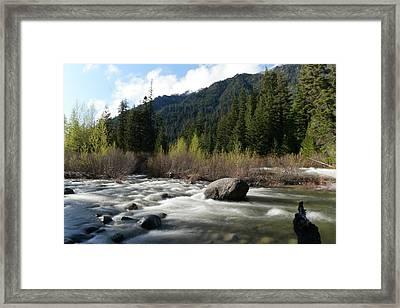Icicle River Leavenworth Washington Framed Print by Jeff Swan