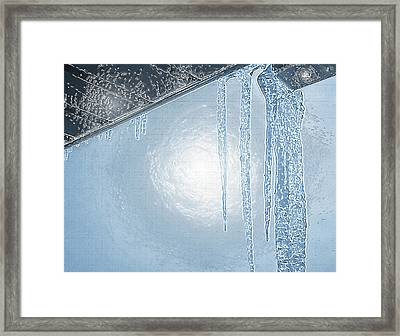 Icicles 1 - Hanging From The Eaves Framed Print by Steve Ohlsen