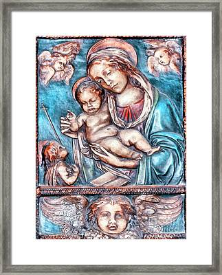 Icon Of Madonna Mother Of God  Framed Print by Odon Czintos