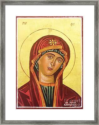 Icon Of The Virgin Mary. Framed Print by Anastasis  Anastasi