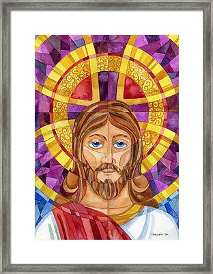 iconic Jesus Framed Print by Mark Jennings