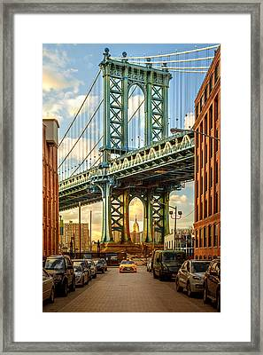 Iconic Manhattan Framed Print by Az Jackson