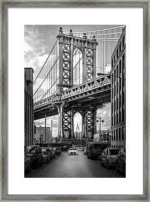 Iconic Manhattan Bw Framed Print by Az Jackson