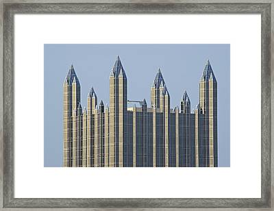 Iconic Pittsburgh Rooftop Framed Print by Frozen in Time Fine Art Photography