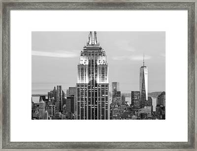 Iconic Skyscrapers Framed Print by Az Jackson