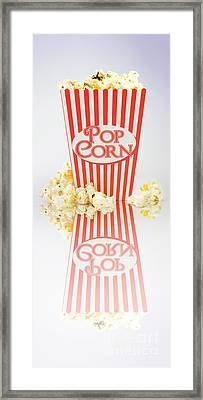 Iconic Striped Popcorn Carton Framed Print by Jorgo Photography - Wall Art Gallery