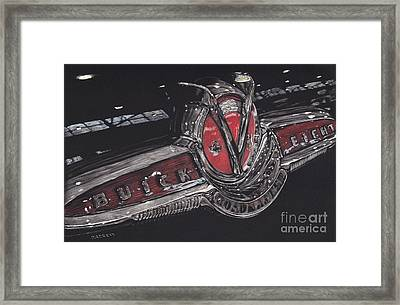 Icons Buick V8 Framed Print by Matthew Jarrett