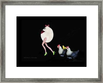 The Egg And The Chickens Framed Print by Suzanne Rogers