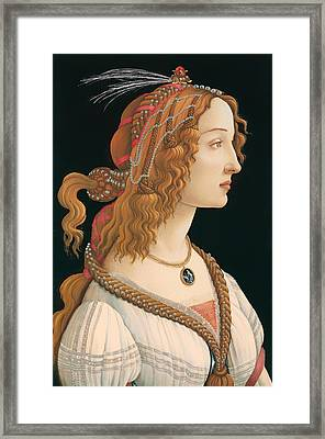 Idealized Portrait Of A Woman Framed Print by Mountain Dreams