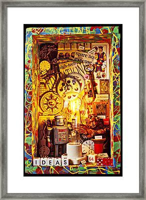 Ideas Framed Print by Garry Gay