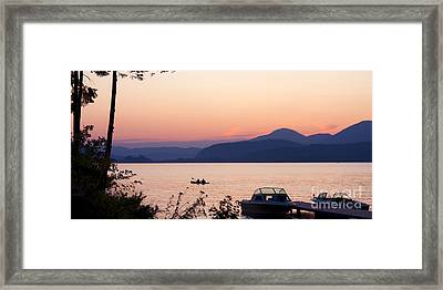 Idyllic Evening Framed Print by Idaho Scenic Images Linda Lantzy