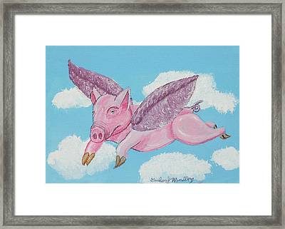 If Pigs Could Fly Framed Print by Gordon Wendling