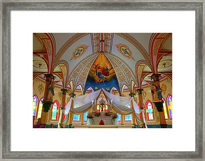 Iglesis De San Rafael Church Costa Rica Framed Print by Mina Thompson