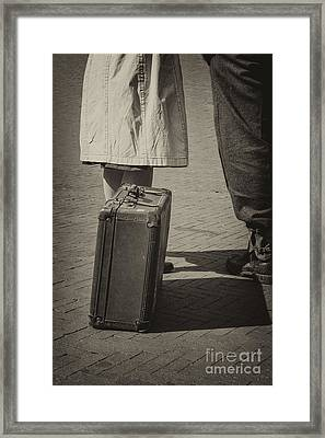 II World War Couple In Black And White Framed Print by Patricia Hofmeester