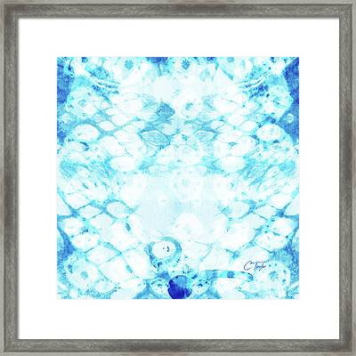 Ikat Diamonds Framed Print by Colleen Taylor