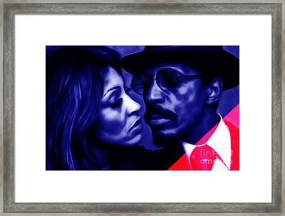 Ike And Tina Turner Collection Framed Print by Marvin Blaine
