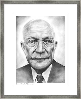 Ike Framed Print by Greg Joens