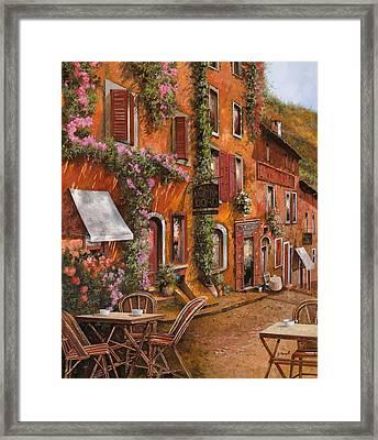 Il Bar Sulla Discesa Framed Print by Guido Borelli