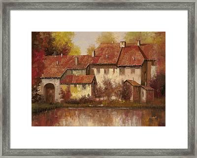 Il Borgo Rosso Framed Print by Guido Borelli