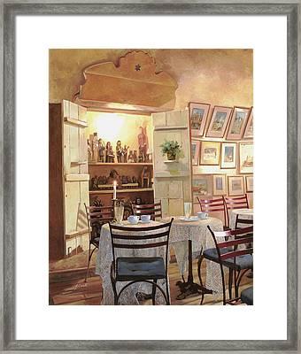 Il Caffe Dell'armadio Framed Print by Guido Borelli
