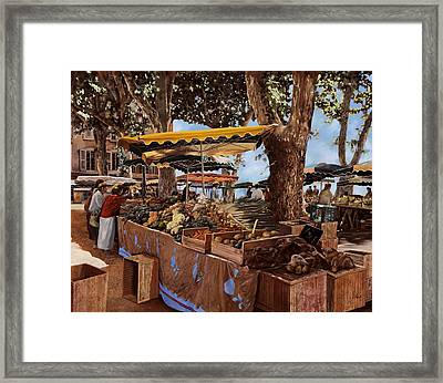 il mercato di St Paul Framed Print by Guido Borelli