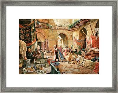 Il Mercato Framed Print by Guido Borelli