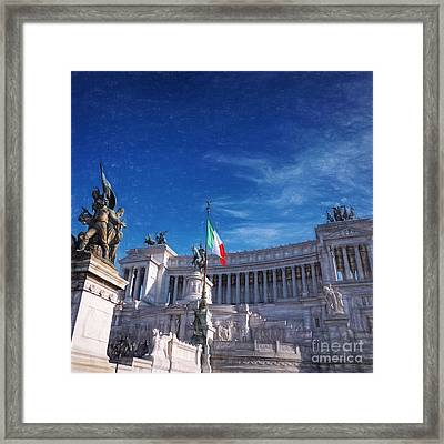 Il Vittoriano Framed Print by HD Connelly
