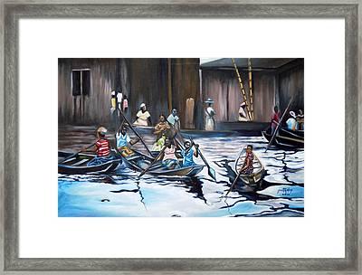 Ilaje Obalende Makoko Framed Print by Olaoluwa Smith