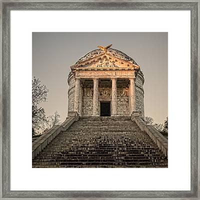 Illinois Memorial Sunset - Vicksburg Framed Print by Stephen Stookey