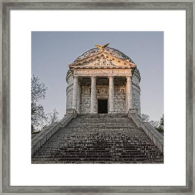 Illinois Memorial - Vicksburg Framed Print by Stephen Stookey