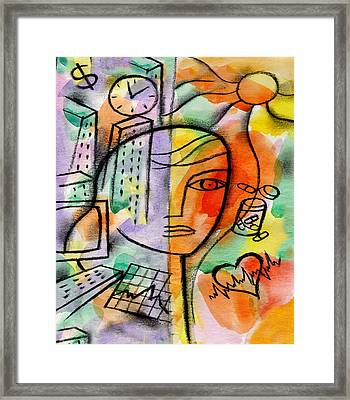 Illness,  Drags And Health  Framed Print by Leon Zernitsky
