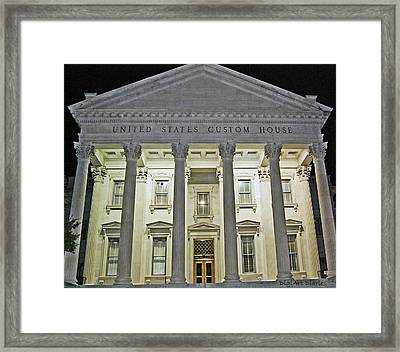 Illuminated Beneath The Darkness Framed Print by DigiArt Diaries by Vicky B Fuller